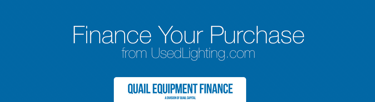 Finance Your Equipment Used Lighting Stage And